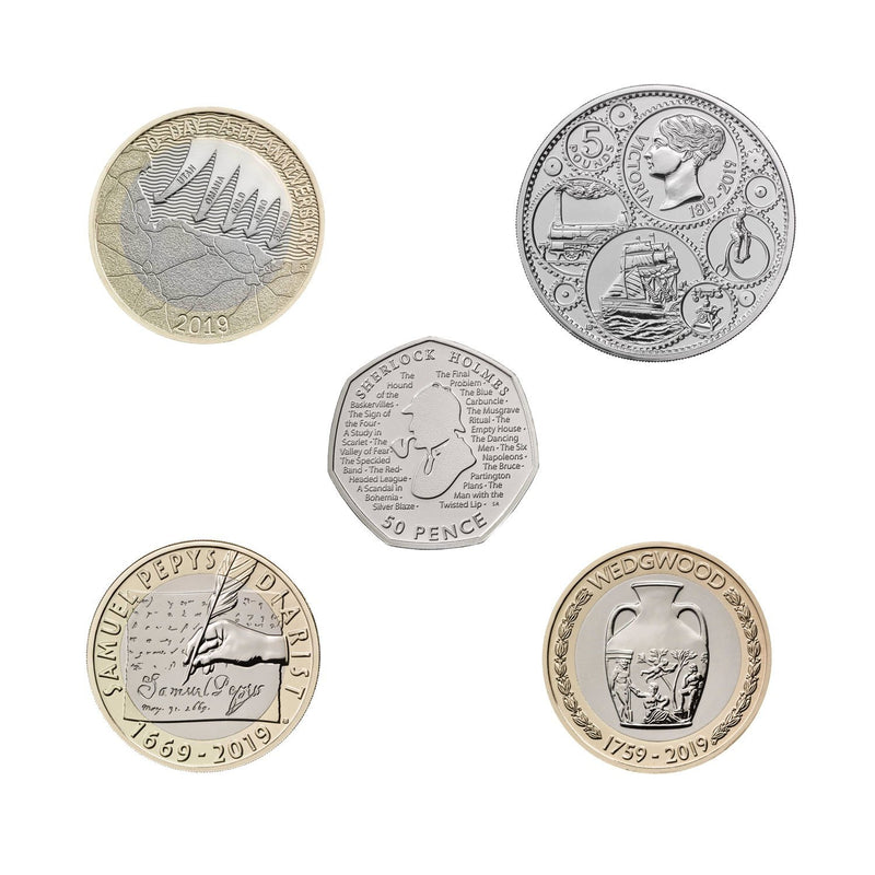 2019 United Kingdom Brilliant Uncirculated Annual Coin Set 2