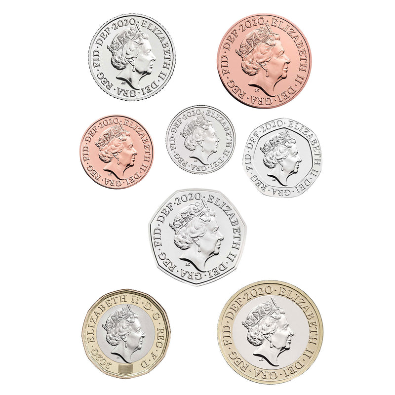 2020 United Kingdom Brilliant Uncirculated Definitive Coin Set