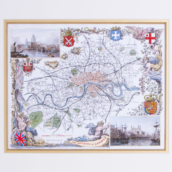 The Environs Of London - Classic Maps Print 2