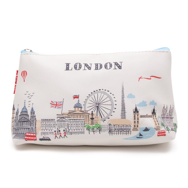 Alice Tait Landscape London Make Up Bag front