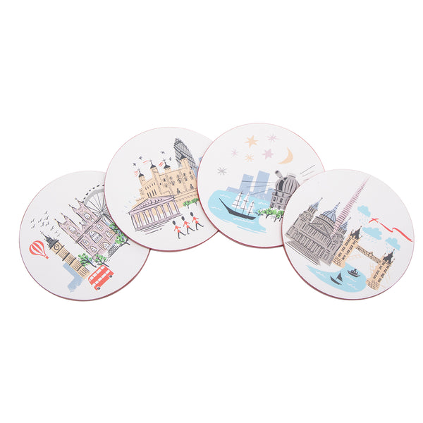 Alice Tait London Landscape Round Coasters 1