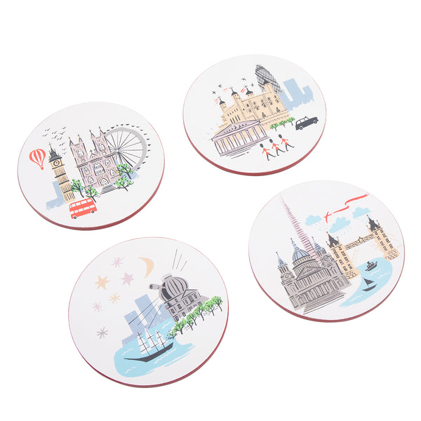 Alice Tait London Landscape Round Coasters 2