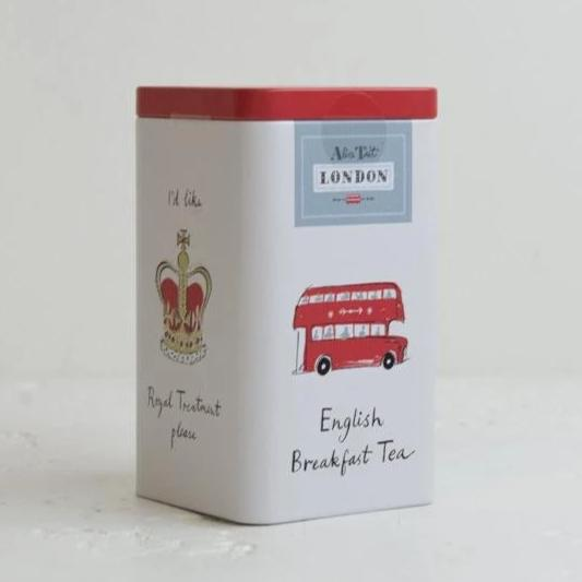 Alice Tait Tea Caddy With Tea Bags