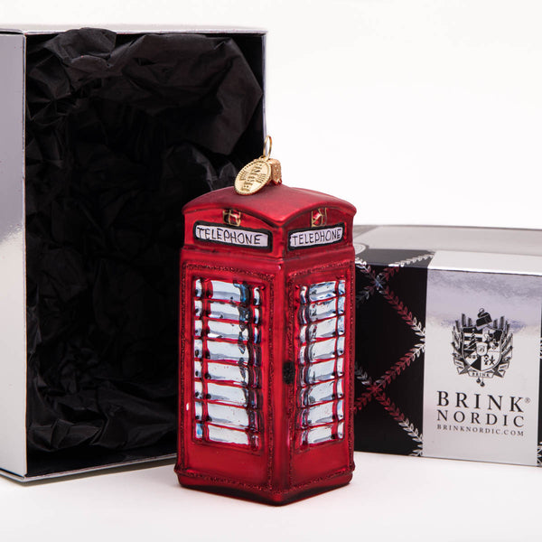 Brink Nordic Telephone Box Christmas Decoration 2