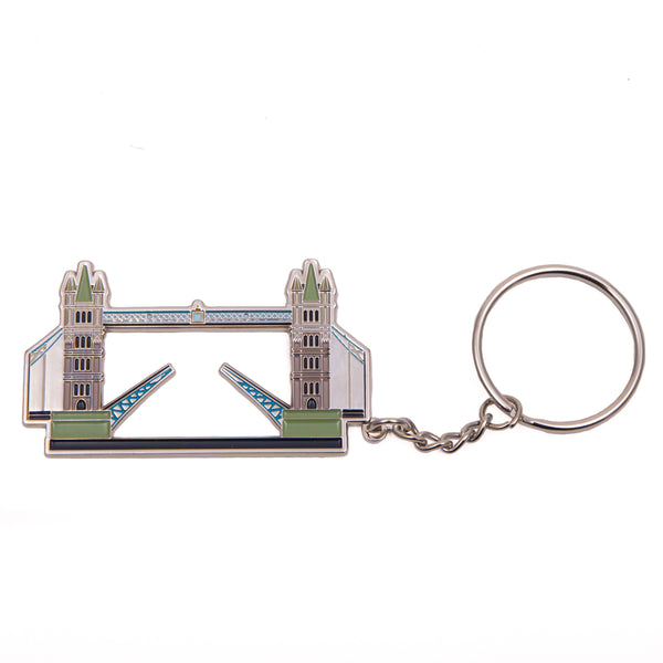 Tower Bridge Metal Coloured Keyring 1