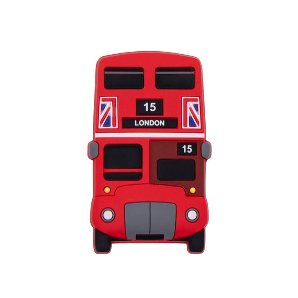 Red Bus Rubber Magnet- Front 1