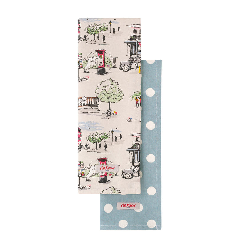 Cath Kidston Billie Goes To Town Tea Towel Set 1