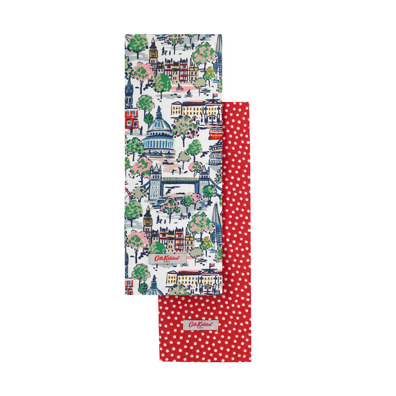 Cath Kidston London View Tea Towel Set 1