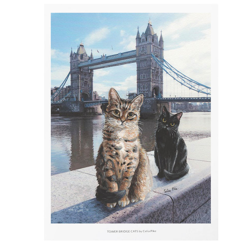 Celia Pike Tower Bridge Cats Print