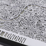 Central London Framed Cutmap White 3