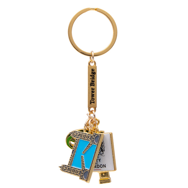 City Of London 4 Charm Keyring 2