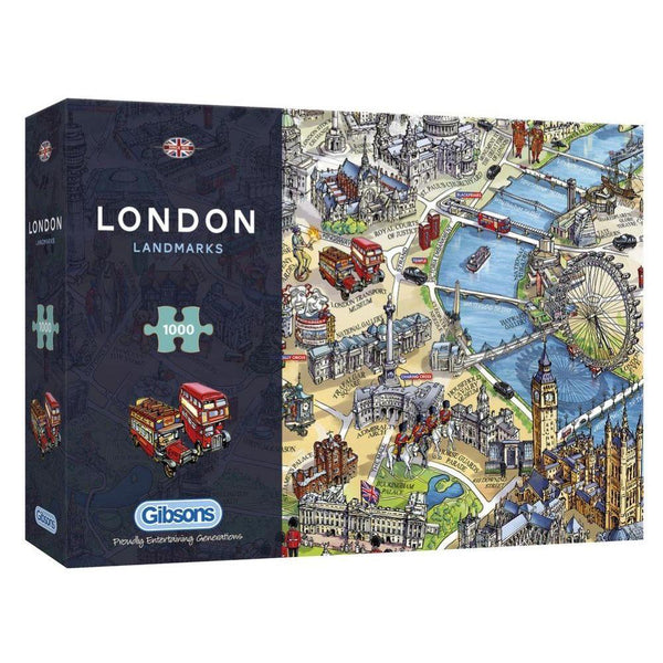 Gibsons London Landmarks 1000 Piece Puzzle  box