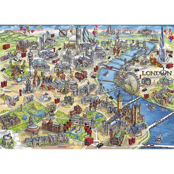 Gibsons London Landmarks 1000 Piece Puzzle  assembled
