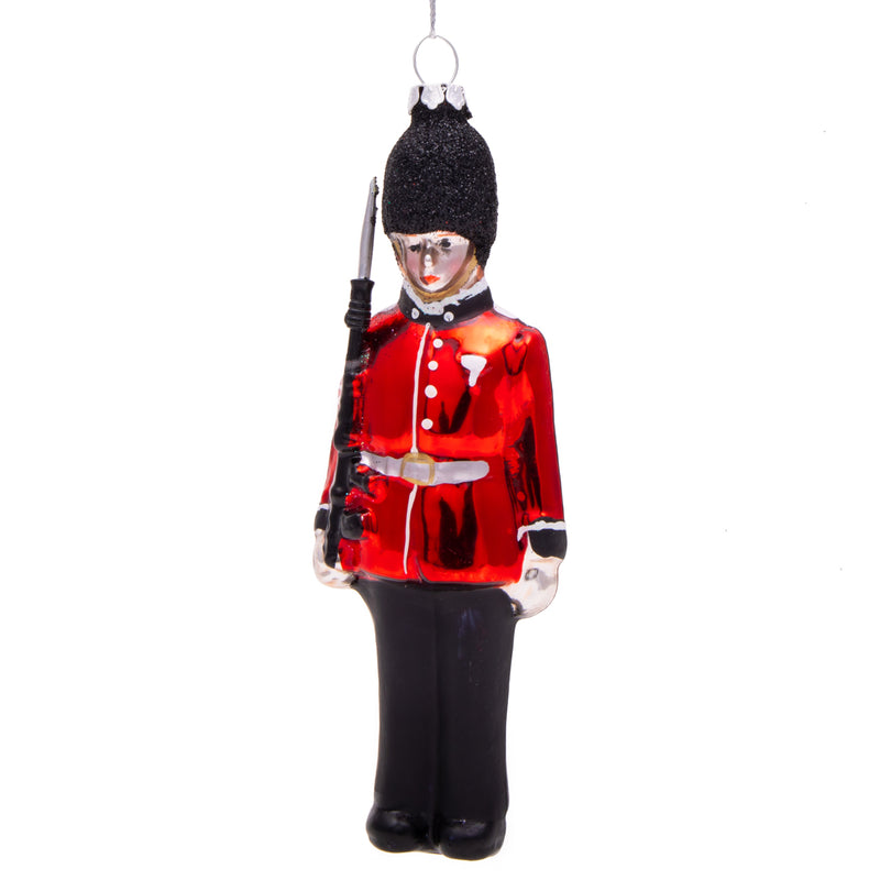 Gisela Graham Painted Glass Queens Guard Soldier Christmas Decoration 1