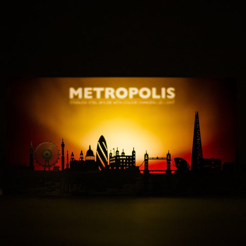 Metal LED London Skyline Display 02