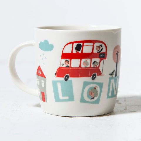 Little Red Bus Mug In Box 1