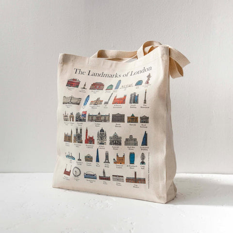 London Landmarks Cotton Tote Bag 1