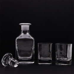 London Night Cap Glasses Set on a black background 2