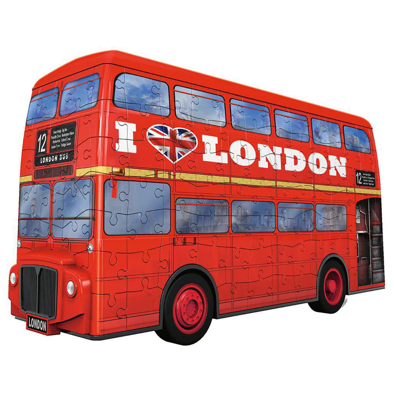 London Red Bus 3D Puzzle assembled 1