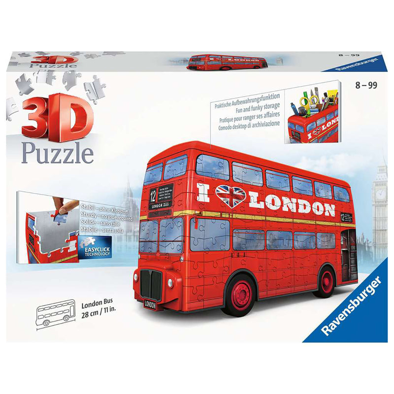 London Red Bus 3D Puzzle box