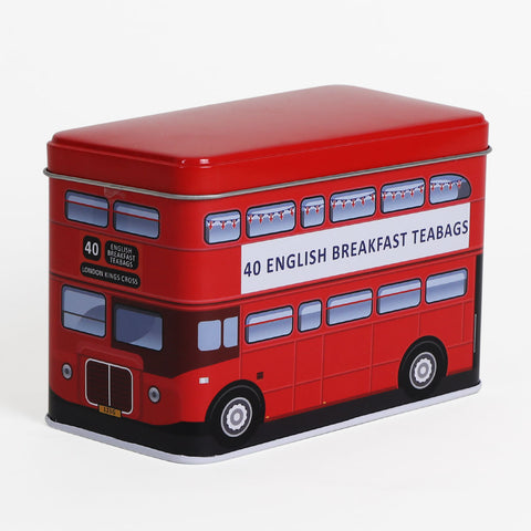 London Red Bus Tea Tin 1