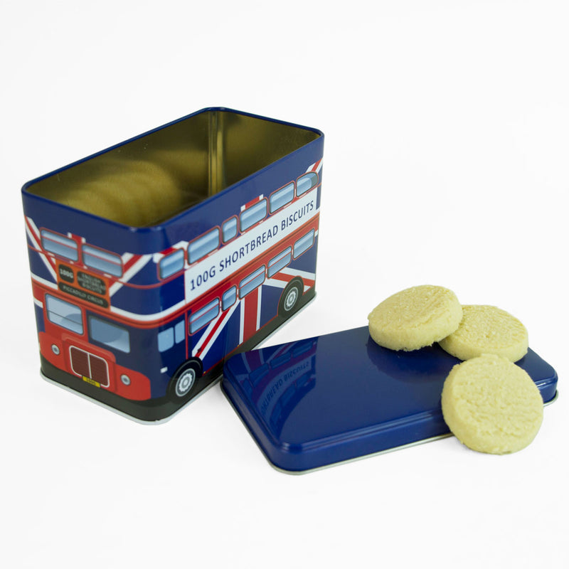 London Union Jack Bus Shortbread Biscuit 1