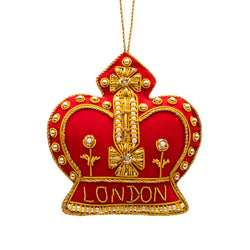 London Crown Stitched Decoration 1