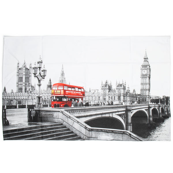 London England Red Bus Tea Towel 1