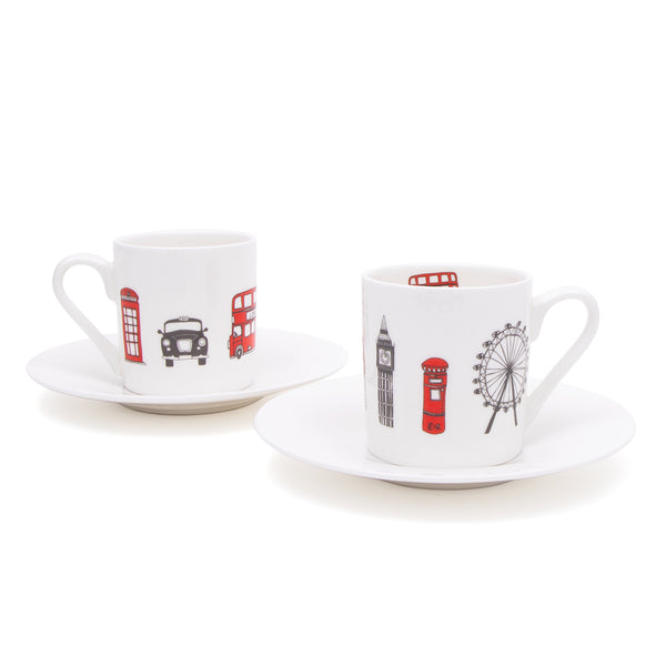 London Skyline Espresso Set 1