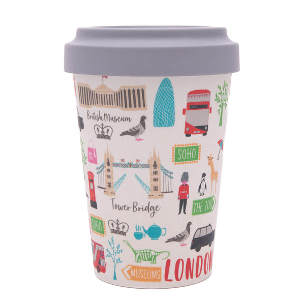 London Adventures Bamboo Travel Cup without sleeve