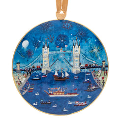Lucy Loveheart Tower Bridge Metal Decoration 1
