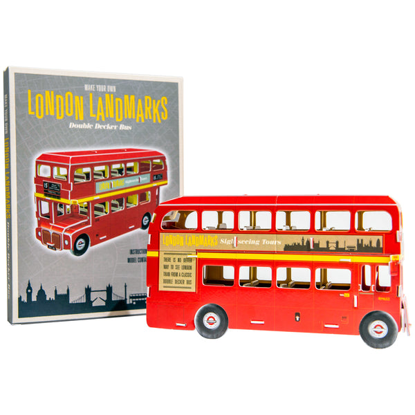 Make Your Own London Landmarks - Double Decker Bus - 3D Model 1