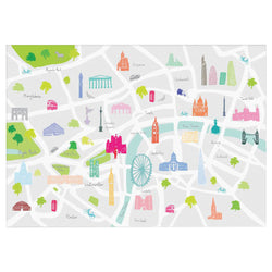 Holly Francesca Map Of London A3 Print 1