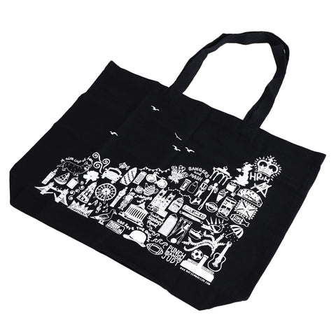 Martha Mitchell Black Tote Bag 1