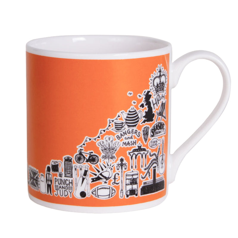 Martha Mitchell British Mug - Orange 1