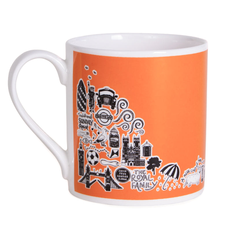 Martha Mitchell British Mug - Orange 2
