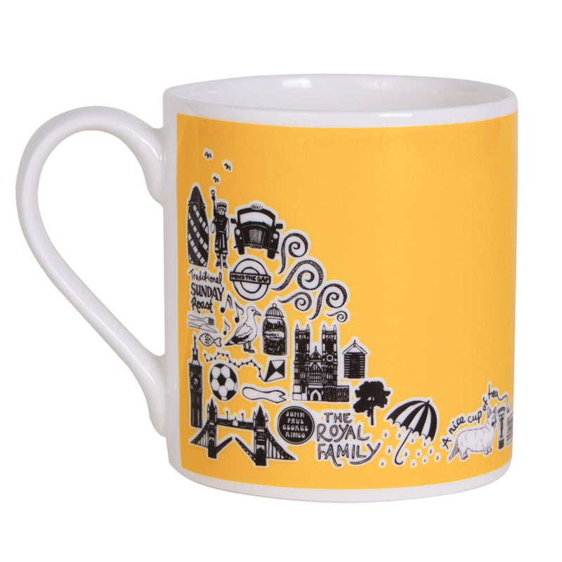 Martha Mitchell British Mug - Yellow 2