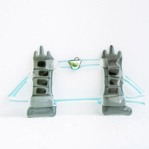 Molten Wonky Tower Bridge Glass Decoration 02