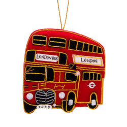 Red Bus Christmas Decoration 1