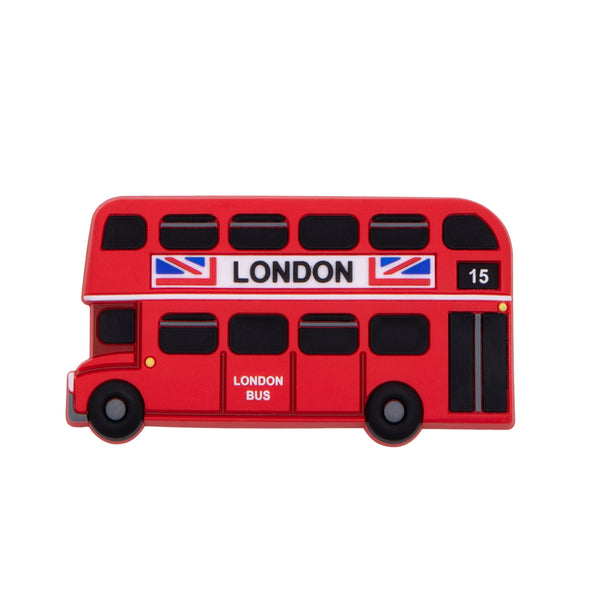 Red Bus Rubber Magnet Side  1