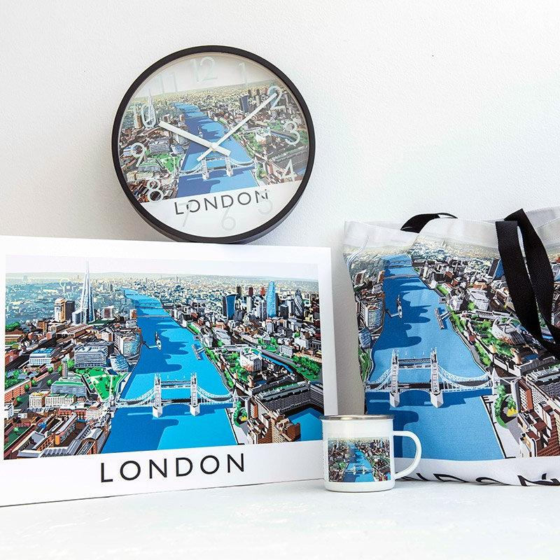 Richard O'Neill Thames London Enamel Mug 03