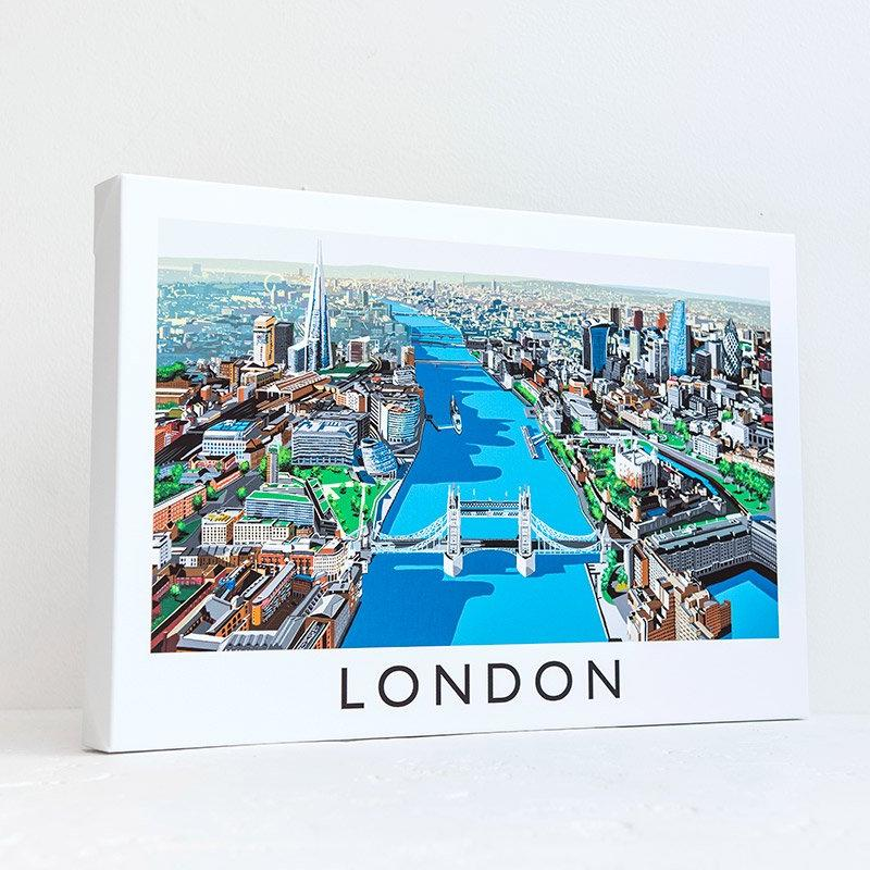 Richard O'Neill Thames London Canvas Print 01