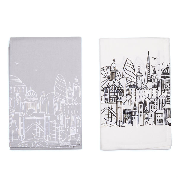 Sketch Double Tea Towel Set 1
