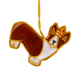 Standing Corgi Dog Christmas Decoration 1