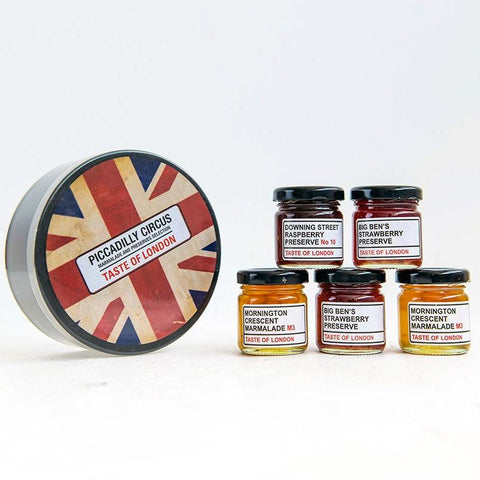Taste Of London Piccadilly Circus Jam 5 Pack Tin 01