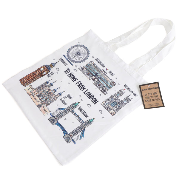 To Home From London Landmarks Tote Bag 1