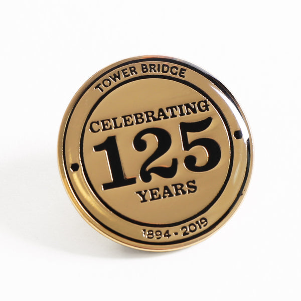 Tower Bridge 125th Year Anniversary Gold Pin Badge 2