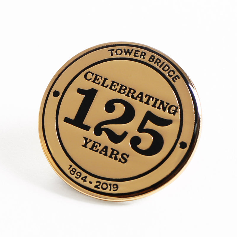Tower Bridge 125th Year Anniversary Gold Pin Badge 1