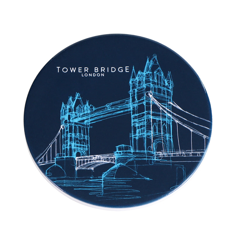 Tower Bridge Line Ceramic Coaster 1