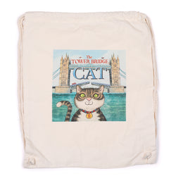 The Tower Bridge Cat Drawstring Bag